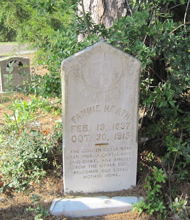 Gravestone of Fannie Heath