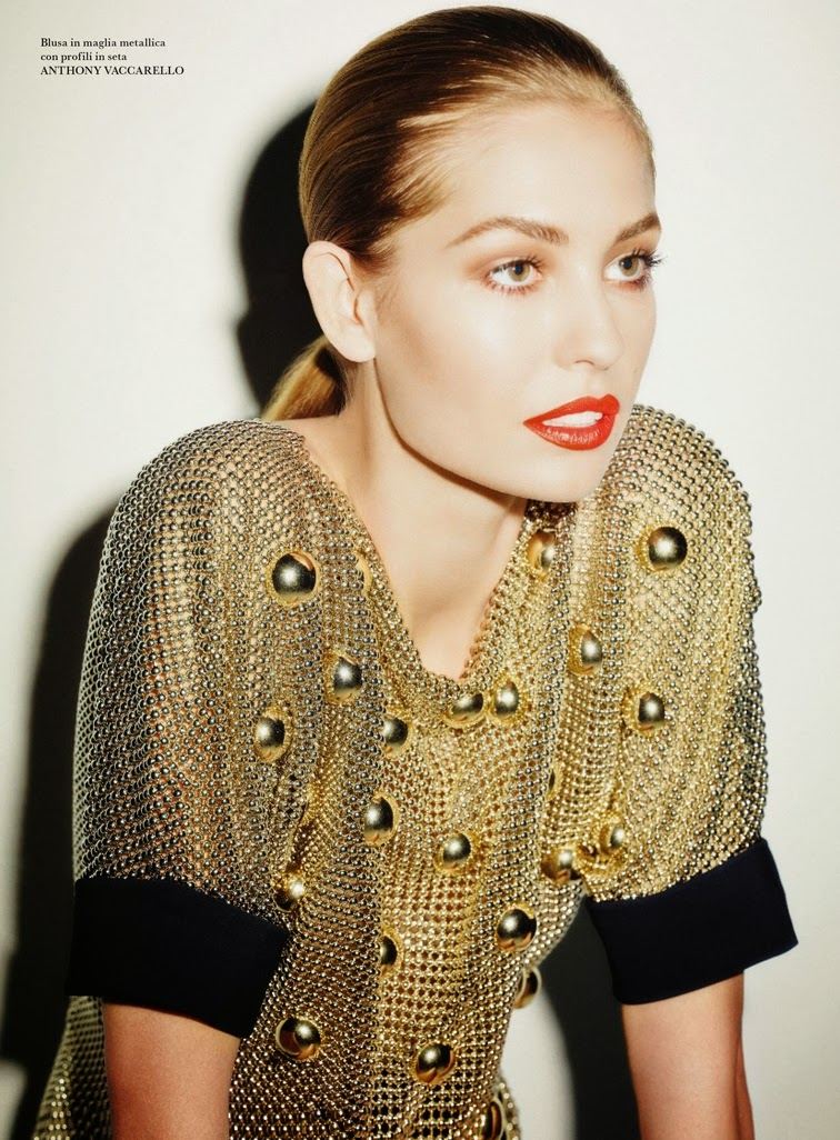 Nadja Bender for Flair magazine photographed by Ezra Petronion , styled by Sissy Vian