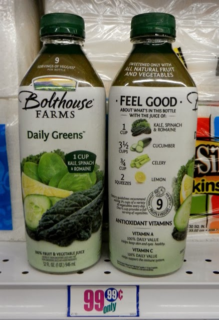 A cross between a glass of juiced vegetables and a couple shots of fruit smoothie, Bolthouse Farms Daily Greens is a delicious and nutritious combination.