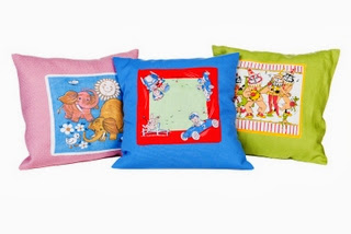 Vintage Hankie Illustration Cushions
