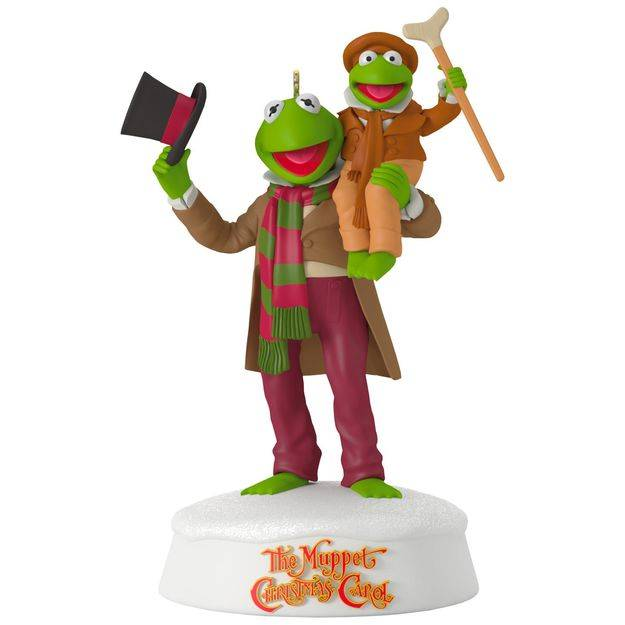 celebrate 25 years of the muppet christmas carol with this christmas ornament that features kermit the frog as bob cratchit and his nephew robin as tiny - Muppets Christmas Carol Youtube