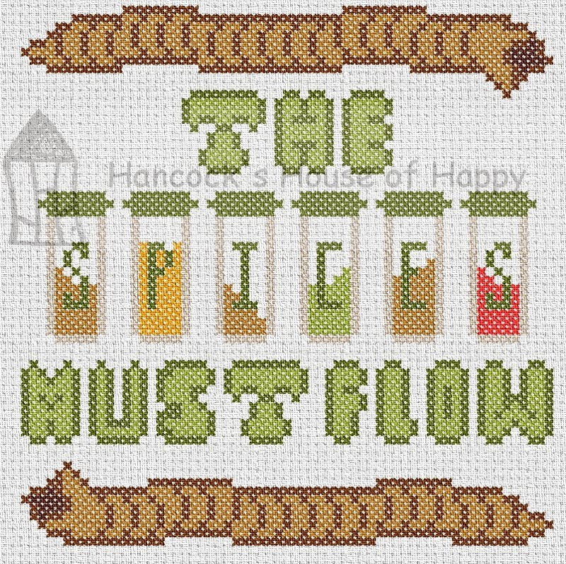 Welcome to the Fremen Kitchen! A Dune Inspired Cross Stitch Chart Featuring Shai Hulud