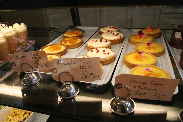 Lemon, Passionfruit, and Orange Cream & Satsuma Tarts at Floriole