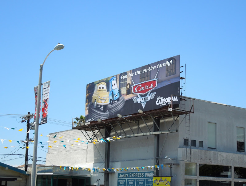 Cars Land billboard
