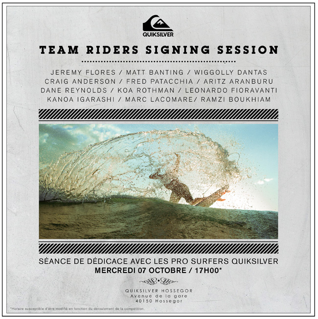 POSTER SIGNING SESSION QUIKSILVER