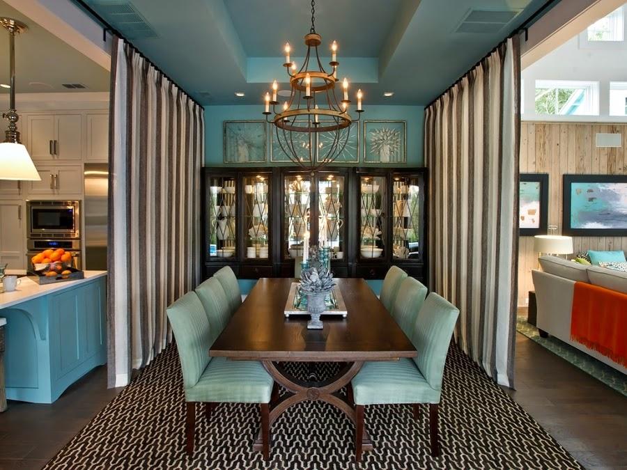 dom, wnętrza, mieszkanie, wystrój wnętrz, home decor, aranżacje, dekoracje, kuchnia, jadalnie, wyspa kuchenna, błękit, turkus, mięta, szarości, stół, krzesła, fotele