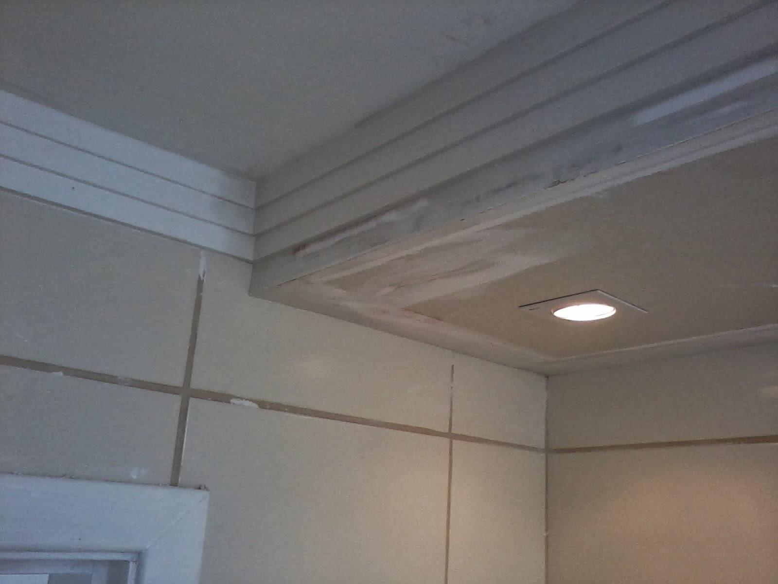 gesso: gesso aparamento tecol .vitral no hall de entrada sanca fechada  #50647B 1600 1200