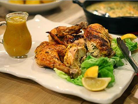Pollo a la cerveza al horno