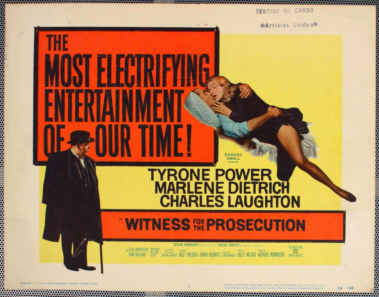 witness for the prosecution film This is the first production of witness for the prosecution that based on agatha christie's original short (23 pages) story first published in the january 31, 1925 edition of flynn's weekly under the title 'traitor hands.