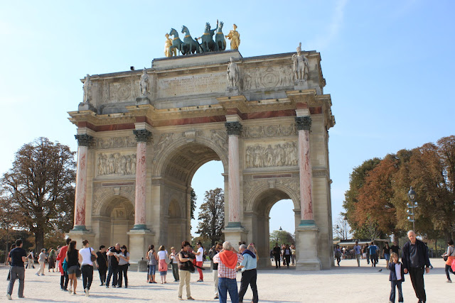 Arc du Carrousel in Paris, France