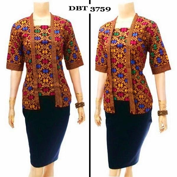 Blouse batik motif prada
