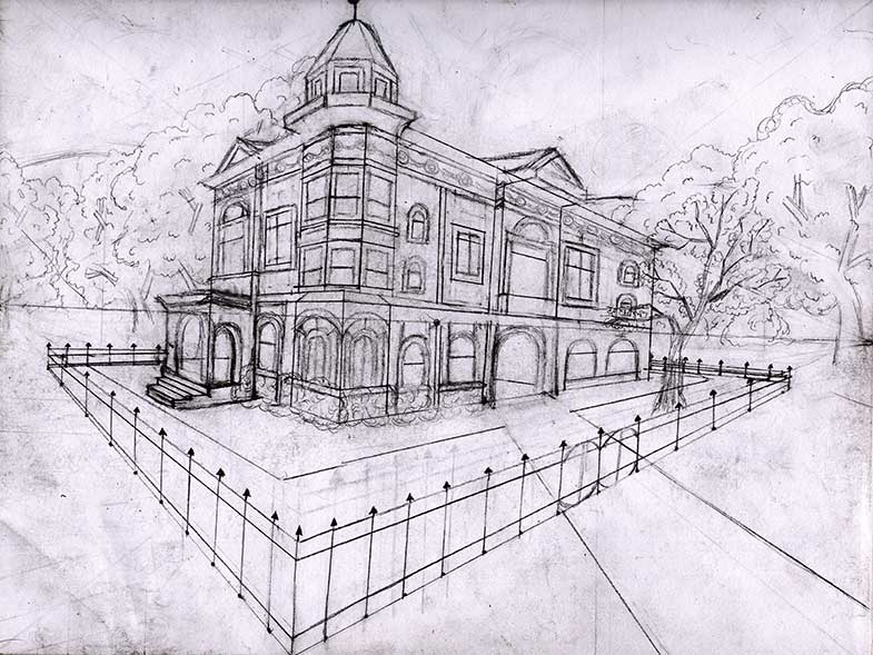 2 Point Perspective Drawing  House http://pics3.this-pic.com/key/drawing%20a%20house%20in%202%20point%20perspective