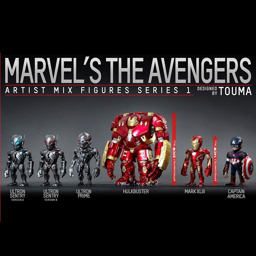 Marvel's Avengers Age of Ultron Artist Mix Figures Series 1 by Touma & Hot Toys
