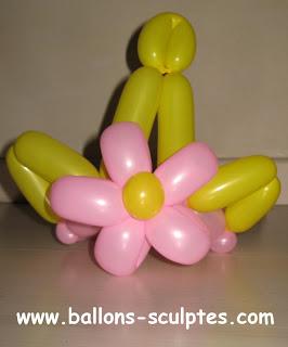 couronne fleur en ballons