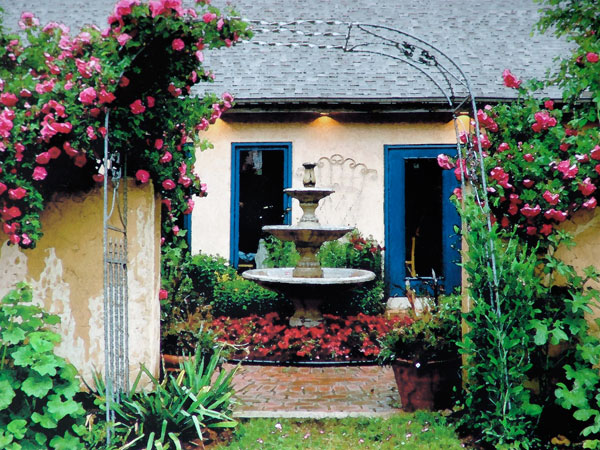 Delorme designs french country gardens and sherwin williams for French country garden designs