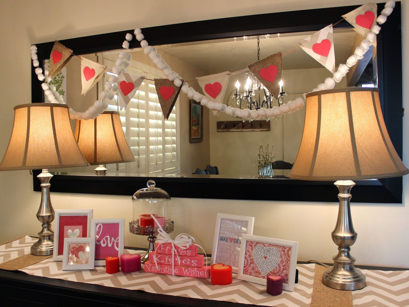 Inexpensive Valentine Decor