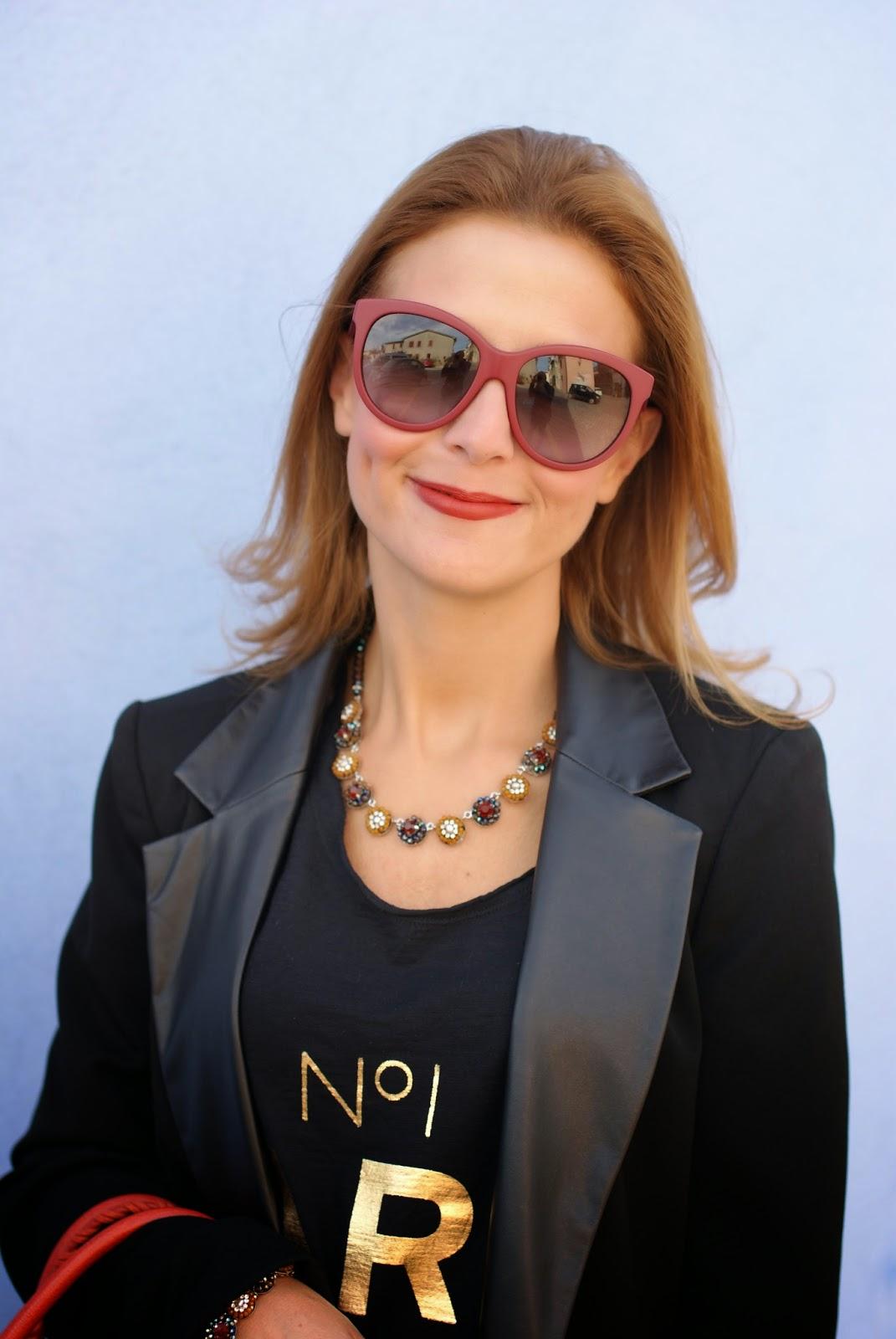 Sodini bijoux new fall winter collection, Bryant Park collection by Sodini, MAC chili lipstick, Balenciaga bag rouge ambre, Fashion and Cookies, fashion blogger