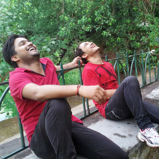 Saurabh and Anmol at Hauz Khas Village