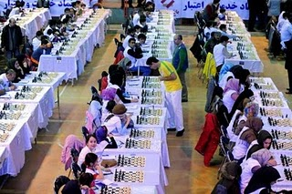 Iranian Chess Players Guinness World Records, Iran Chess Guinness World Records, Iranian Chess Players world records 2011