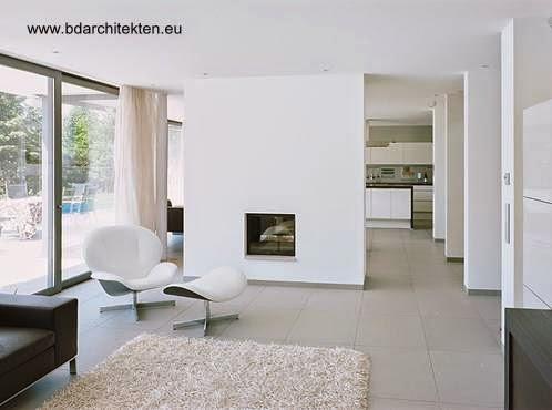 Sala de estar de residencia contemporánea en Alemania