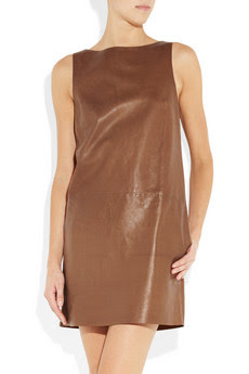 Ralph Lauren Black Label, Oriana leather dress