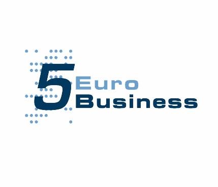 blaues Logo vom 5 Euro Business Wettbewerb