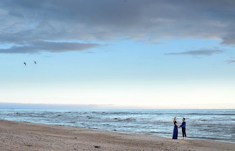 Priešvestuvinė fotosesija prie jūros