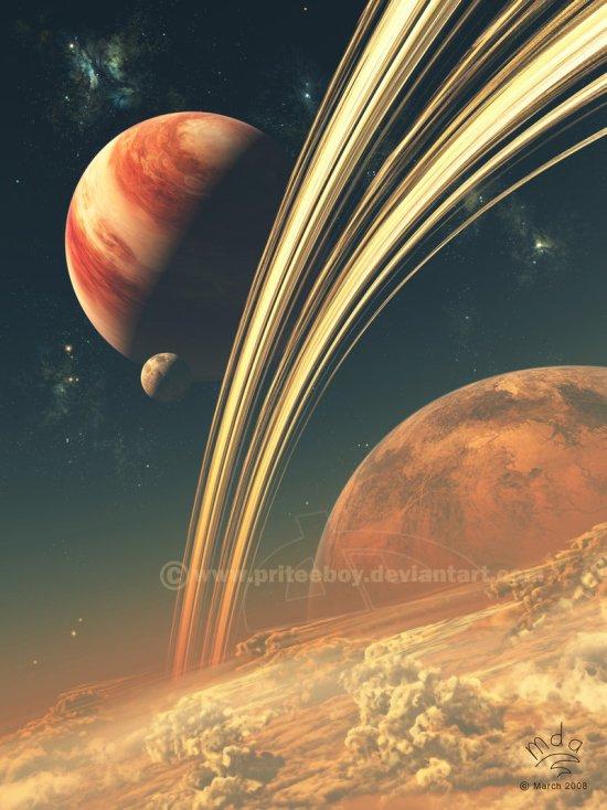 Matthew Attard priteeboy deviantart ilustrações ficção universo espaço