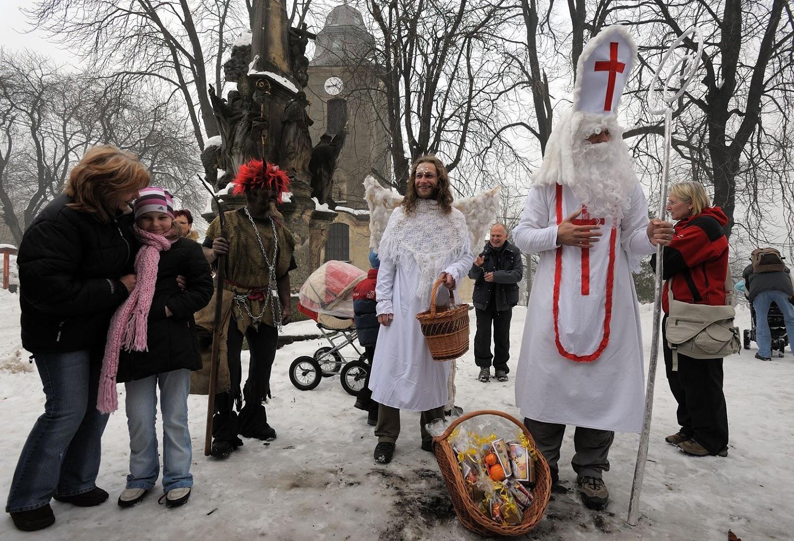 Advent na Krásné 30. 11. 2008 - mikulášská nadílka
