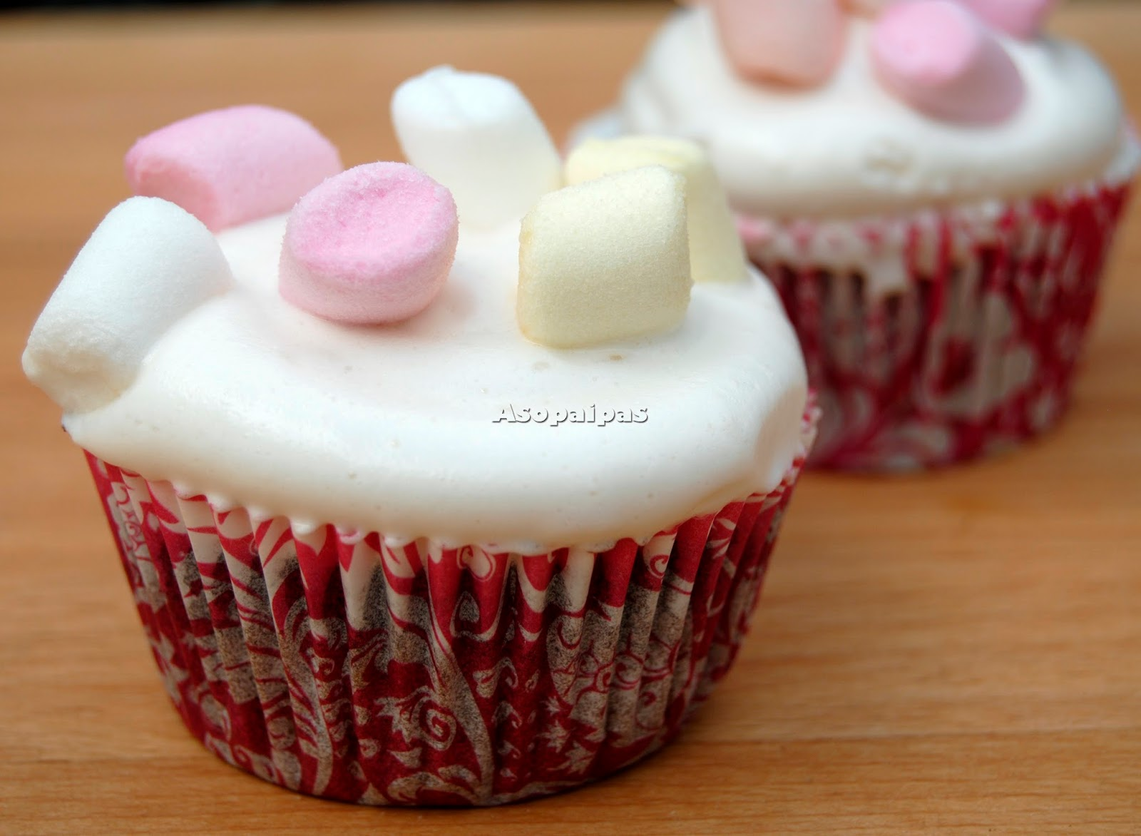 Cupcakes de Nubes casero