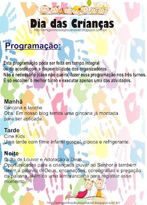 Programação para o dia das crianças