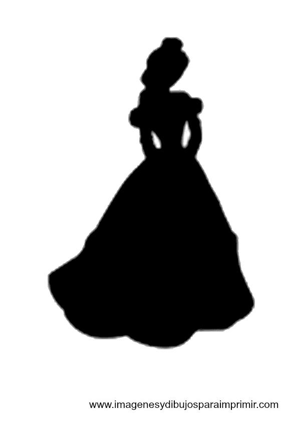 Princess Silhouette Cinderella Printable Disney printable silhouettesPrintable Cinderella Silhouette