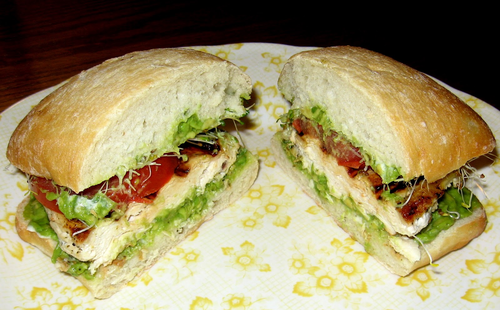 Grilled Chicken Sandwiches with Mozzarella, Tomato and