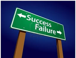 failure and success street signs