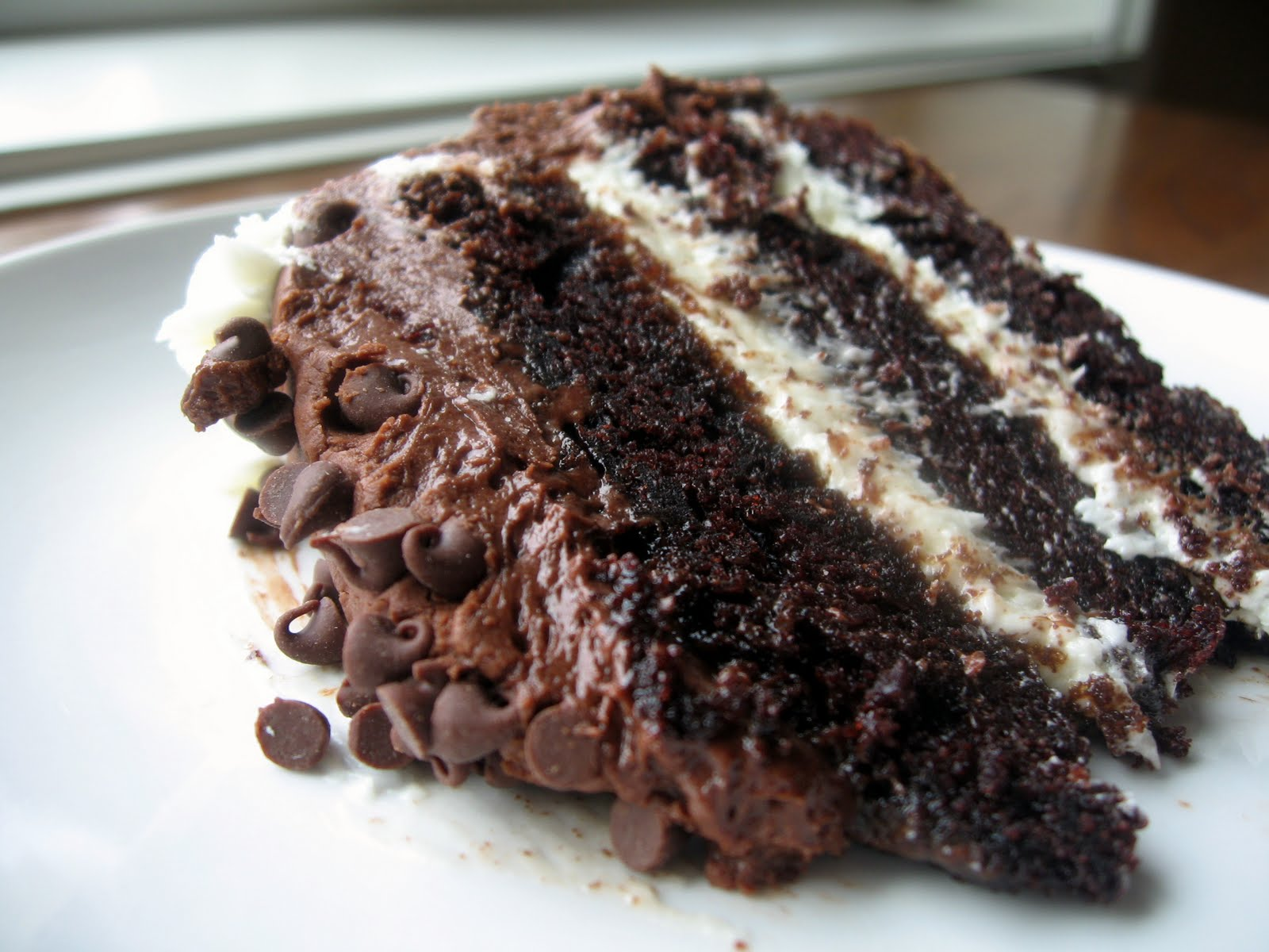 ... Chocolate Layer Cake with Cream Cheese Filling and Chocolate