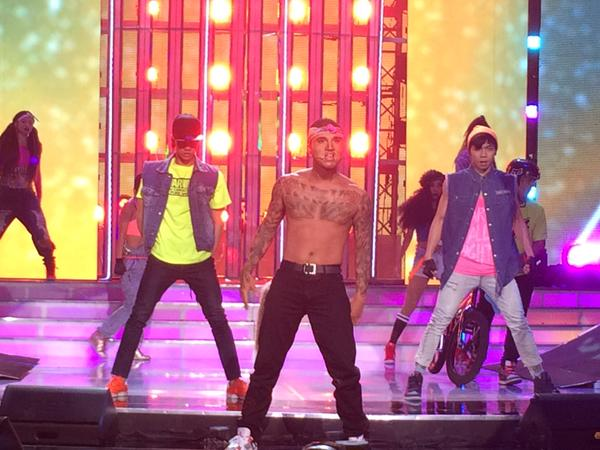 "EA performs Chris Brown's ""Turn Up the Music."""