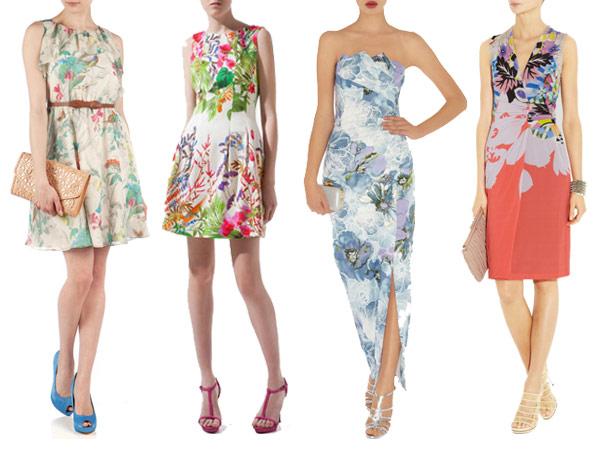 Dress to surprise floral wedding guest dress for Floral dresses for wedding guests