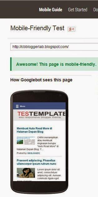 Mobile Friendly Test Blog Google