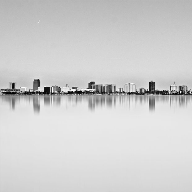 long beach,skyline,Kevin Saint Grey, photograph,photo,black and white, art
