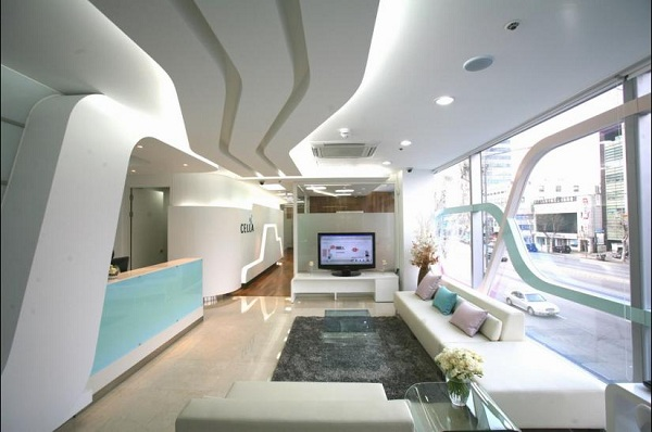 Ultra modern clinic w white on white inspiration for Clinic interior designs