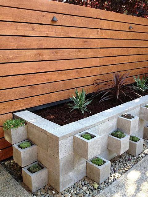 Cinder Blocks Large Planter Box