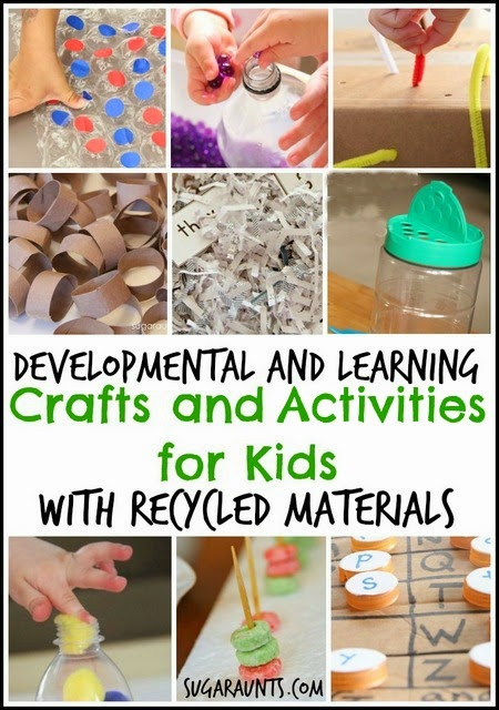 Kids Will Love These Simple Developmental And Learning Crafts Activities Made With Recycled Materials