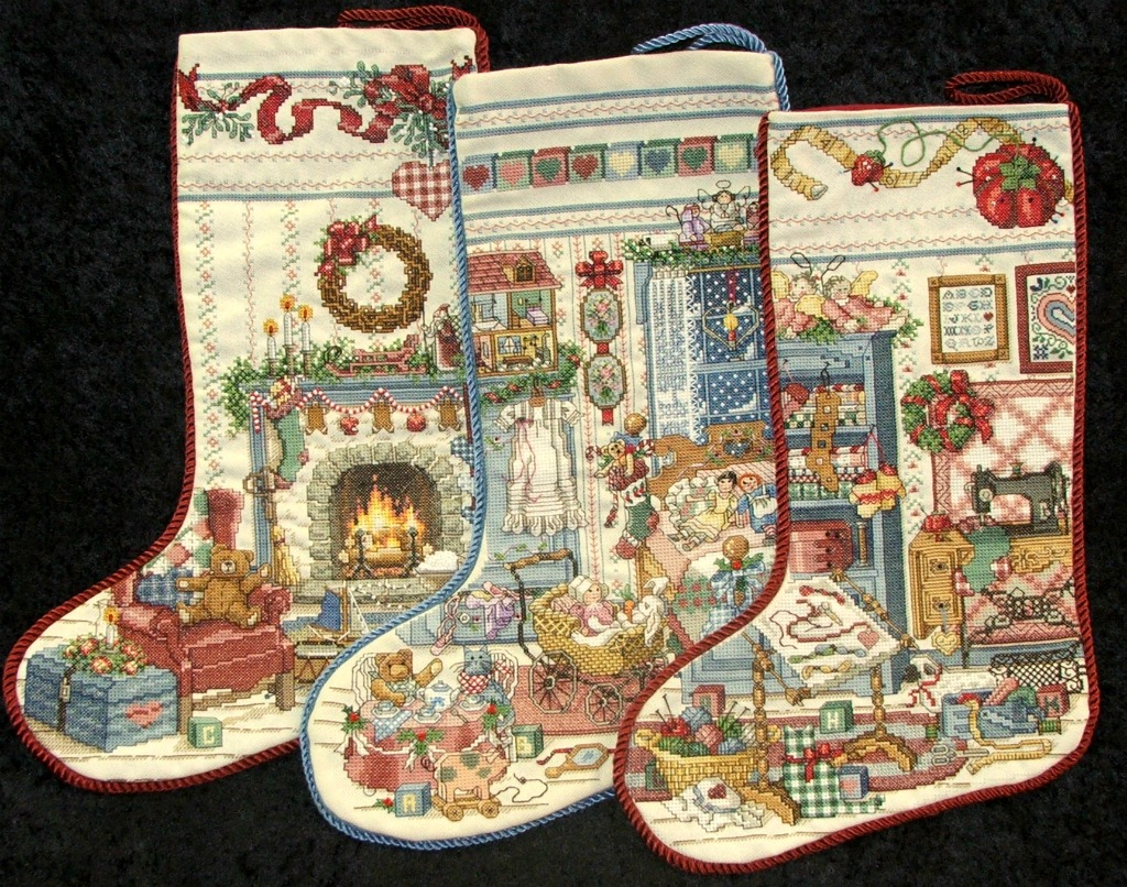 QueenOfAllCrafts: Just listed... FINISHED CROSS STITCH CHRISTMAS ...