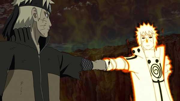 Sedang mendengarkan kata-kata bijak Naruto