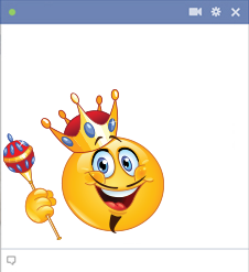 King emoticon smiley