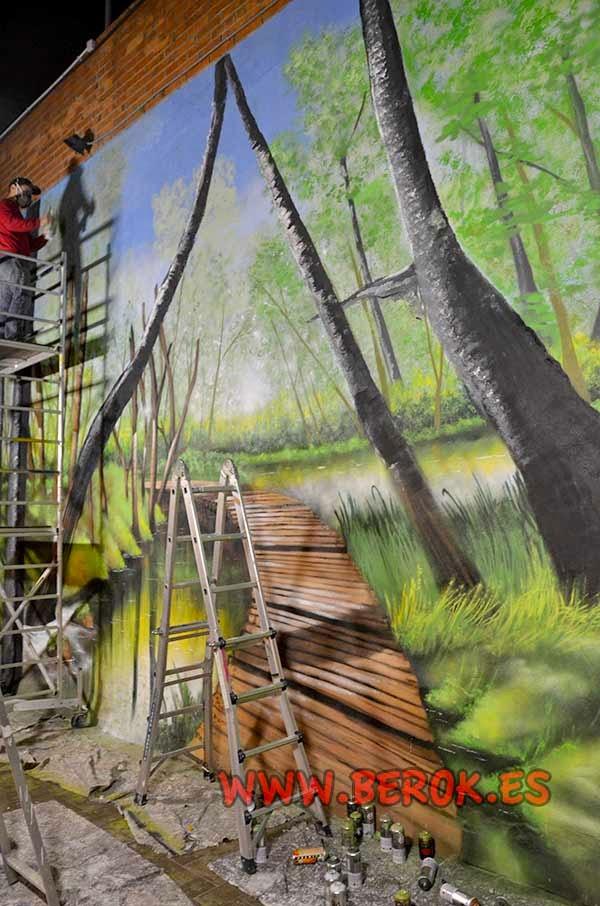 Paisaje mural de naturaleza