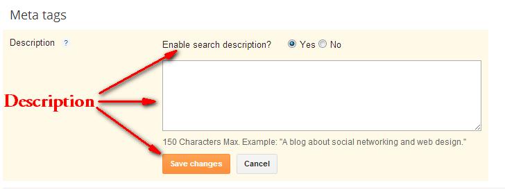 How to Write a Great Description for Blogger Blog : eAskme