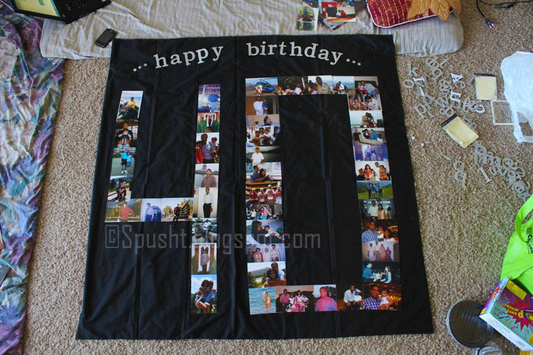 Birthday Party Banner Along With Photos