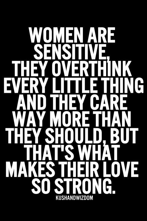 Women sensitive quote
