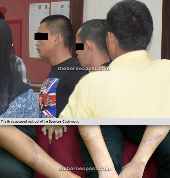 Tiga Gangster Kejar Pelajar Di Kuching Dibebaskan Dengan Ikat Jamin